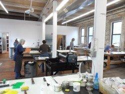The teaching studio