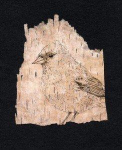Anita S. Hunt, intaglio on birch bark, 2011
