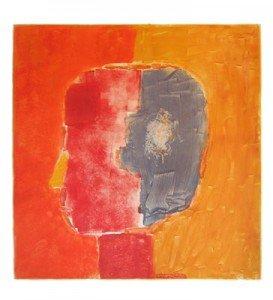 "Stephanie Cramer, ""Head"", monotype"