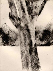 "Brian Cohen, ""Untitled"", drypoint"