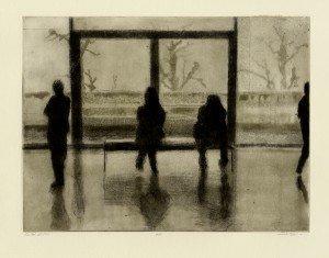 "Liz Chalfin, ""Kroller Muller"", etching, 2011"