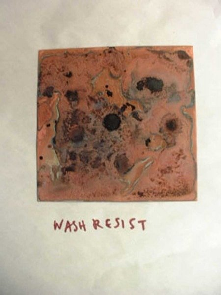 Maya's dried wash resist
