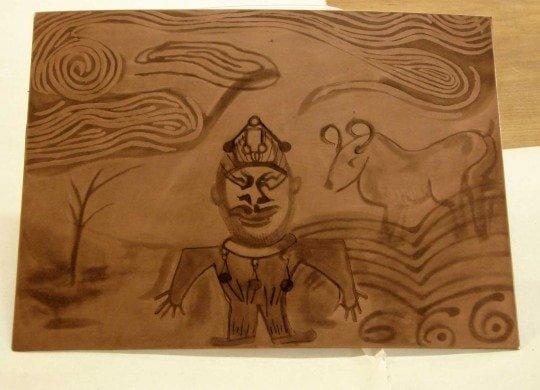 Olya's Inked Plate