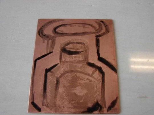 Lift Ground applied to copper plate