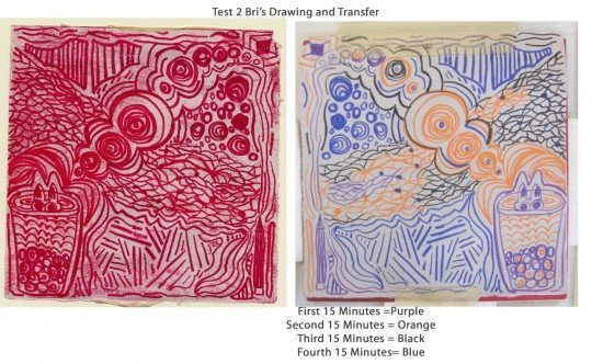 Bri's drawing and transfer
