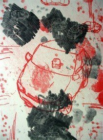 """Todd Munroe, """"Untitled"""", monotype"""