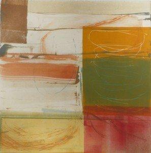 """Nancy Van Deren, """"Strata"""", monotype, 2010"""