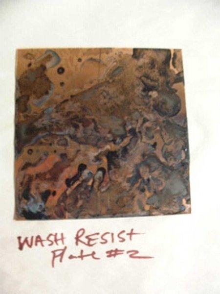 Madeleine's dried wash resist
