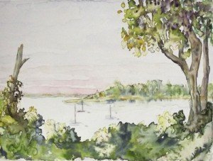 Watercolor Monotype