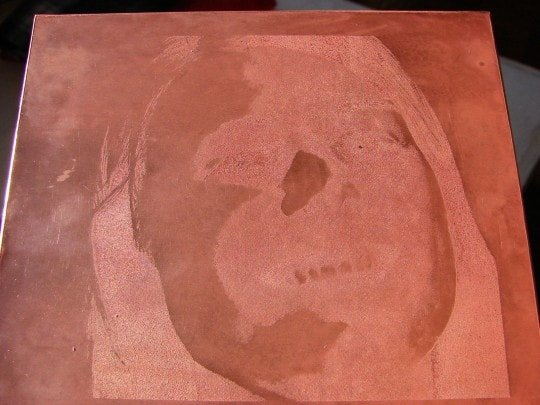 etched copper plate