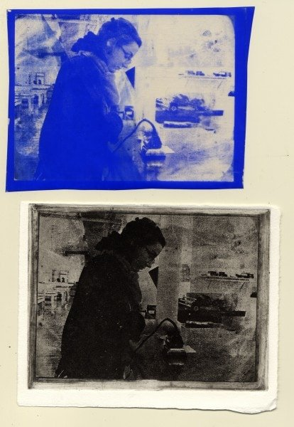 Transferred film and printed image.