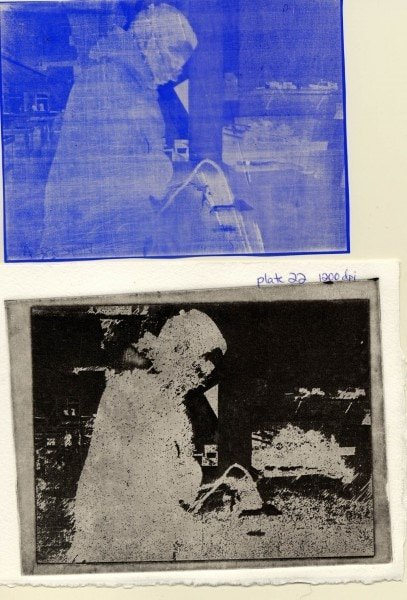 Plate 22A, HQ1200. Top to Bottom: Positive from Film Transfer, Printed Image.