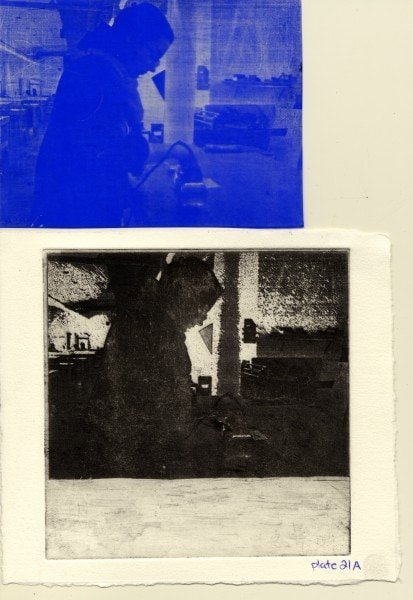 Plate 21. Top to Bottom: Film positive after transfer, final printed image.
