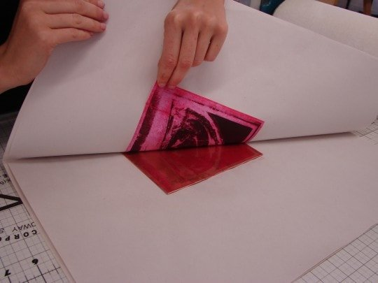 Photocopy is transferred onto plate 2