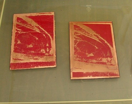 Plates 1 and 2 after etching