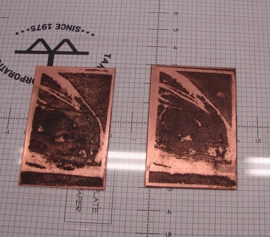 Plates 1 and 2 inked