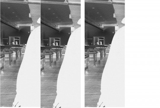All three images with different curves values before printing on film
