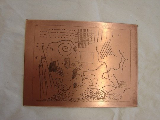 Copper plate after etching