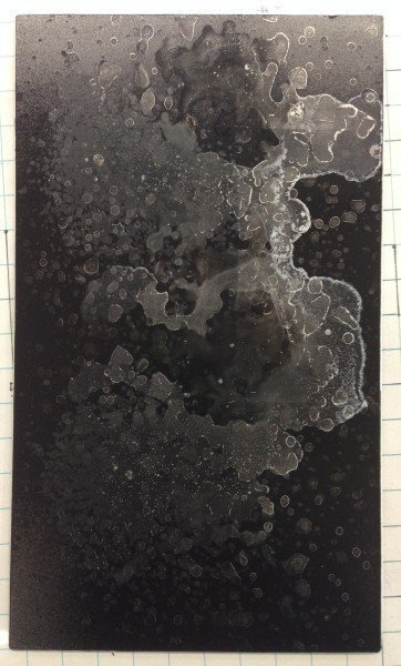 plate dried, prior to printing