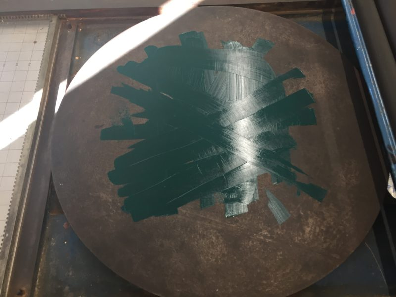 Green ink on disk