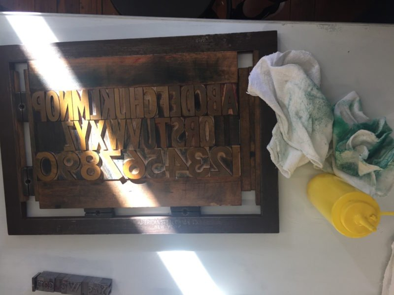 Wooden type clean up